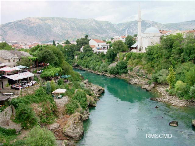 Image of Mostar Bosnia near bridge photograph by Colette Dowell