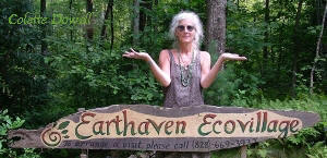 Colette Dowell supporting Earth Haven off grid community